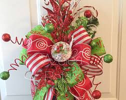 Decorate Christmas Tree With Bows tree topper etsy