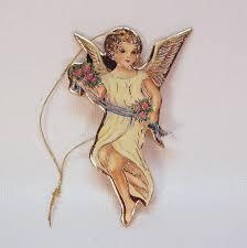 vintage 1979 merrimack die cut angel christmas ornament victorian