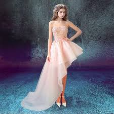 evening dresses 2016 bride banquet pink lace sweetheart