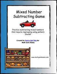 mixed numbers game with pattern blocks math geek mama