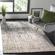 Mid Century Modern Rug Safavieh Retro Mid Century Modern Abstract Black Light Grey