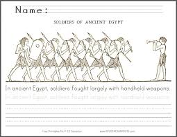 egyptian soldiers coloring page