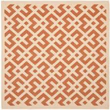 Outdoor Rug Square Orange Square 1 6 Outdoor Rugs Rugs The Home Depot