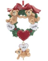 Grandparent Christmas Ornaments Buy Personalized Bear Couple Wreath 7 Links Grandparents