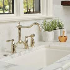 bridge kitchen faucet with side spray collection tresa finish brilliance polished nickel product