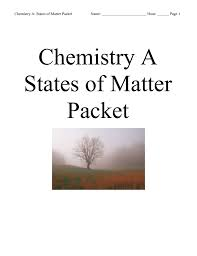 chemistry states of matter packet answers key 100 images