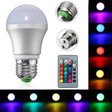 e27 b22 3w dimmable rgb led light color changing bulb remote