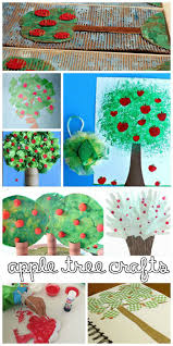 apple crafts for kids in the playroom