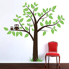 wall stickers tree 2017 grasscloth wallpaper original tree with owls wall sticker jpg