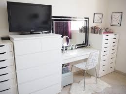 ikea brimnes dressing table my make up storage vanity bedroom tour expat make up addict