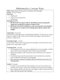 mathematics lesson plan rectangle lesson plan