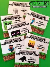 minecraft valentines cards printable minecraft valentines day cards just print cut