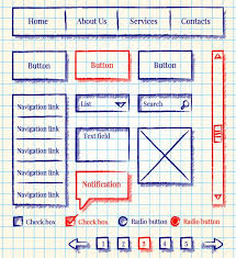 sketch wireframe collection vector free download