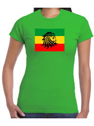 Weed Flag Rasta T Shirt Rastafarian Flag Reggae Lion Ladies Rastafari Zion