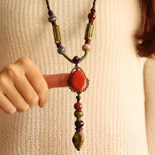 red necklace accessories images Pendant necklace ceramic red necklace accessories long one piece jpg