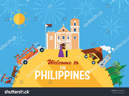 philippines jeepney vector llustration philippiness landmarks icons stock vector 447648664