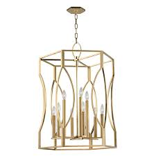 Hudson Valley Pendant Lights Hudson Valley 6523 Agb Roswell Aged Brass Foyer Light Fixture