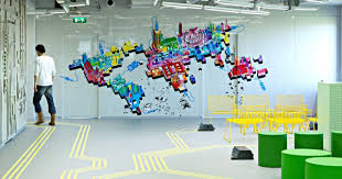 innovative office interiors created by blowing up ict components