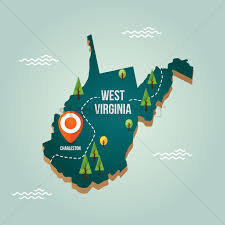 Map West Virginia by West Virginia Map With Capital City Vector Image 1536751