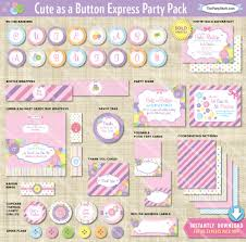 instant download baby shower invitations cute as a button baby shower decorations printable express