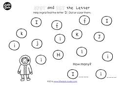 preschool letter i activities and worksheets little dots