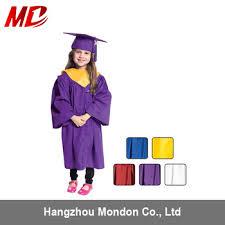 buy cap and gown wholesale matte polyster cheap children graduation cap gown