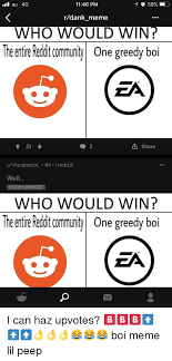 U Win Meme - ll au 4g 1146 pm rdank meme who would win the entireredit comunity