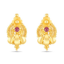 gold earrings for babies earrings classic baby earring thangamayil jewellery