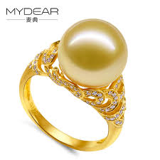 gold pearl rings images Mydear natural pearl jewelry top design vintage style gold ring jpg