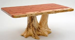 Log Dining Room Table Cabin Furniture Log Dining Table Unique Stump Tree Base