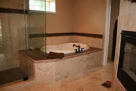 bathroom bathtub design with glass window for contemporary