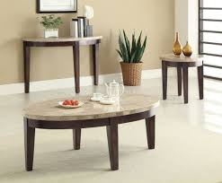 marble sofa table 701888 3pc coffee table set by coaster w cream marble top