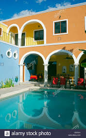 hotel merida santiago merida yucatan mexico stock photo royalty