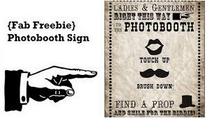 photo booth sign free photobooth sign printable vintage carnival style