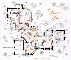 Brady Bunch Floor Plan by Download The Golden Girls House Layout Home Intercine