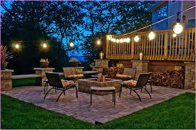 hanging string lights outdoors