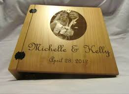 engraved wedding album personalized 3 ring wedding photo album