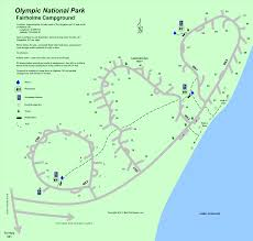 Map Of Yellowstone National Park Olympic National Park Fairholme Campground Map Camping And