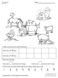 farm animal graphing worksheet