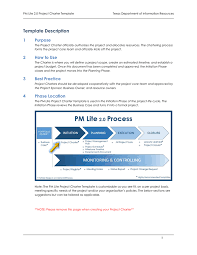 project charter template in word and pdf formats page 2 of 7