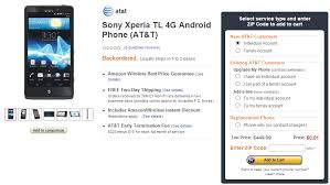 amazon 3pm black friday deal alert the sony xperia tl is just a penny on amazon wireless