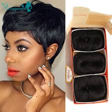 short bump weave hairstyles 27 pieces short hair weave with free closure 7a brazilian virgin
