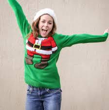 Ugly Green H U0026m Mini Santa Ugly Christmas Sweater Green The Ugly Sweater Shop