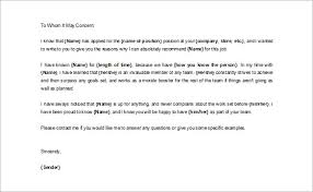 awesome collection of free sample reference letter for a job on