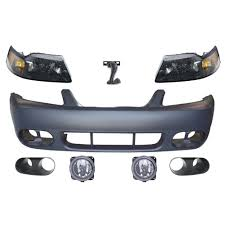 2003 04 mustang cobra fog light bezel kit mustang front bumper conversion kit 2003 2004 cobra with headlights