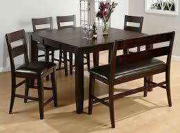 Black Dining Room Set With Bench Uncategorized Dining Room Sets With Bench Within Imposing Dining