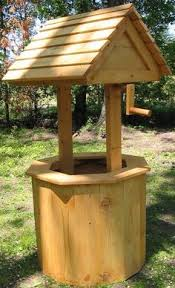wooden wishing well plants and garden woodworking