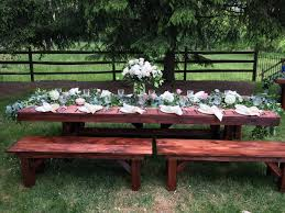 Chair Rentals In Md Farm Style Table U0026 Bench Rentals In Lancaster Pa U0026 De Md Va Ny