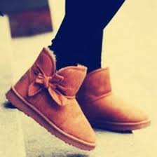 ugg s shoes shoes ugg boots ugg boots boots ankle boots bows chestnut