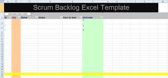 Scrum Excel Spreadsheet Get Scrum Backlog Excel Template Xls Project Management Excel